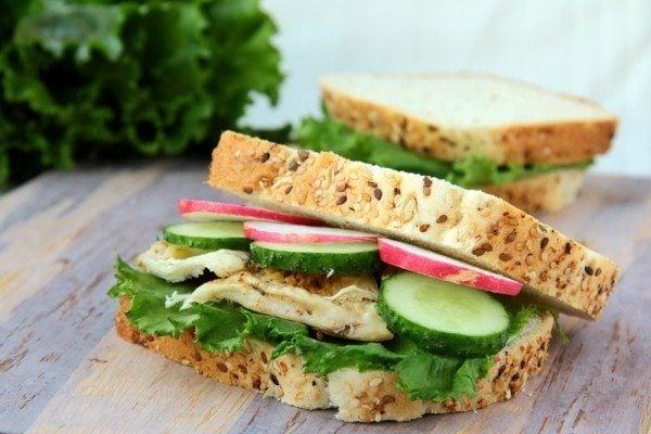 Chicken and Crisp Veggie Sandwich