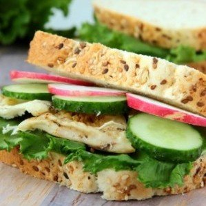 Chicken and Crisp Veggie Sandwich