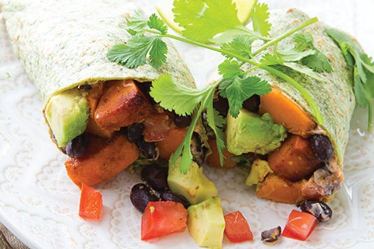 Black Bean & Sweet Potato Wrap