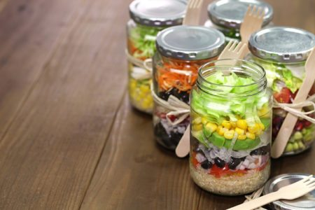 DIY Skinny Salad-in-a-Jar