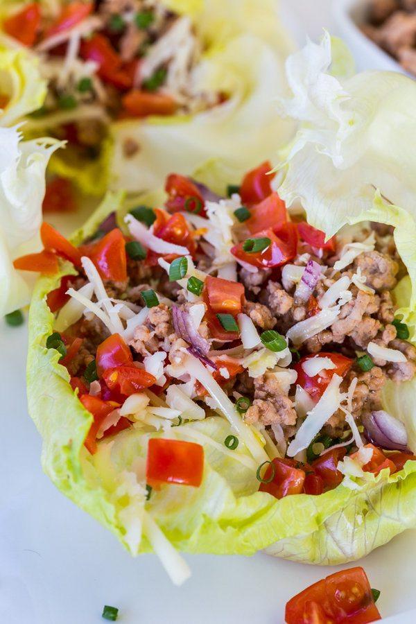 Skinny Taco Lettuce Boats