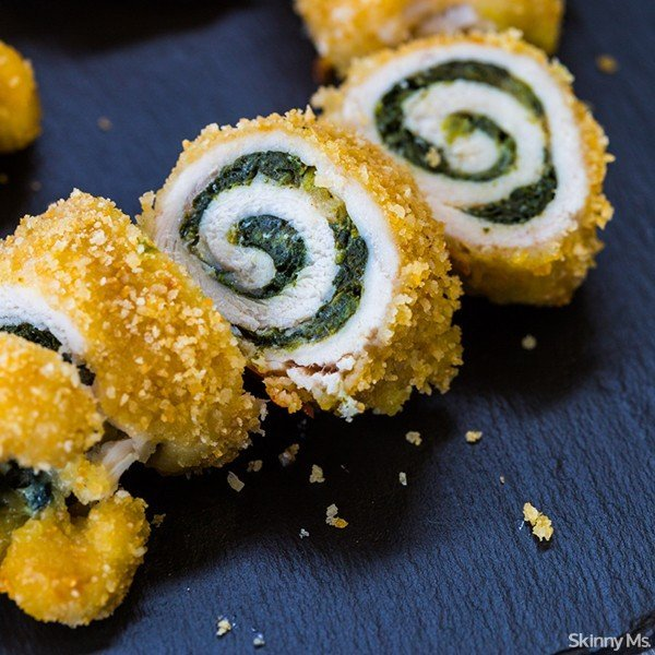 Baked Chicken Rollatini with Spinach & Parmesan Recipe