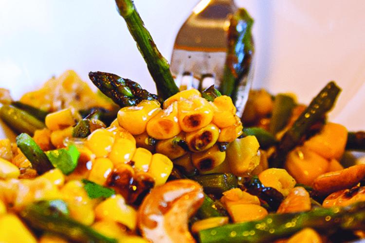 Cherry, Asparagus and Corn Salad