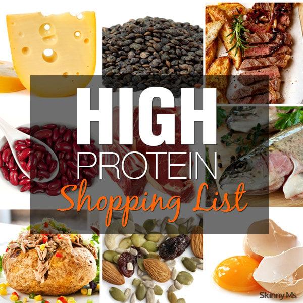 High Protein Shopping List