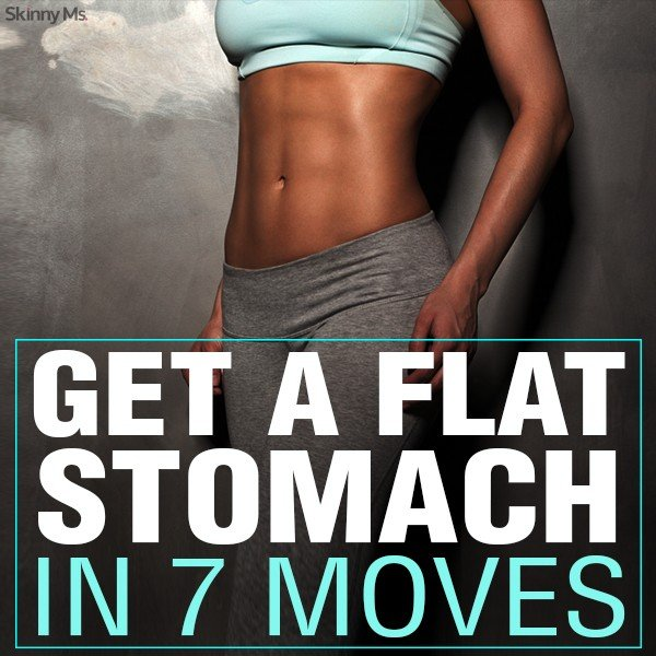 How To Get A Flat Stomach in 7 Moves Verticle