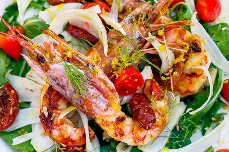 Mediterranean Grilled Shrimp Entrée Salad