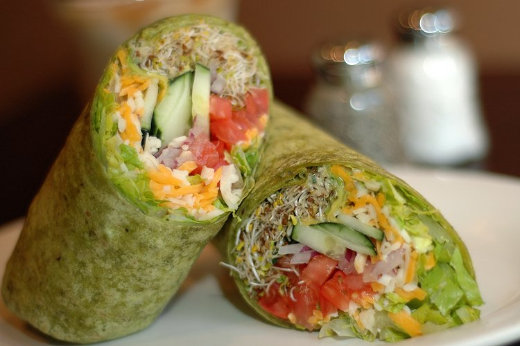 Sprouts, Veggie, and Cheese Wrap