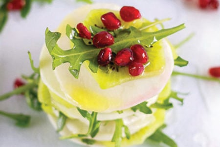Turnip, Kiwi, and Pomegranate Salad