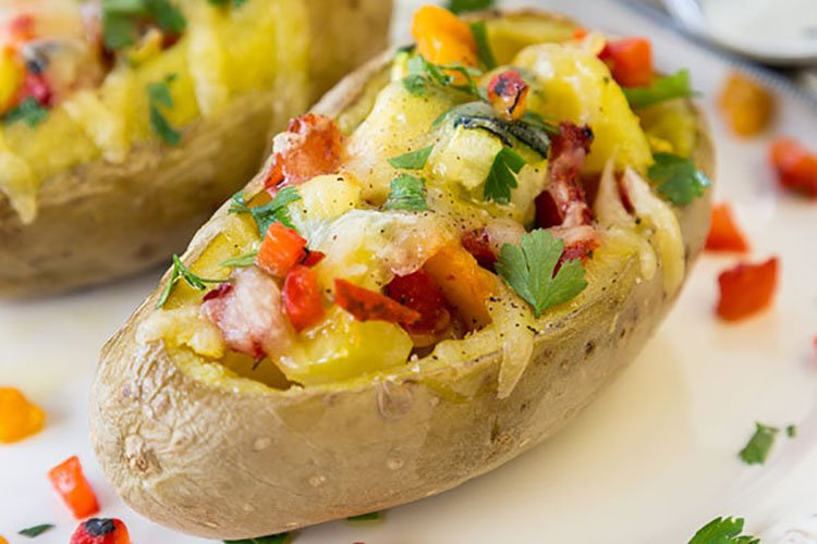 Twice Baked Veggie Stuffed Potato