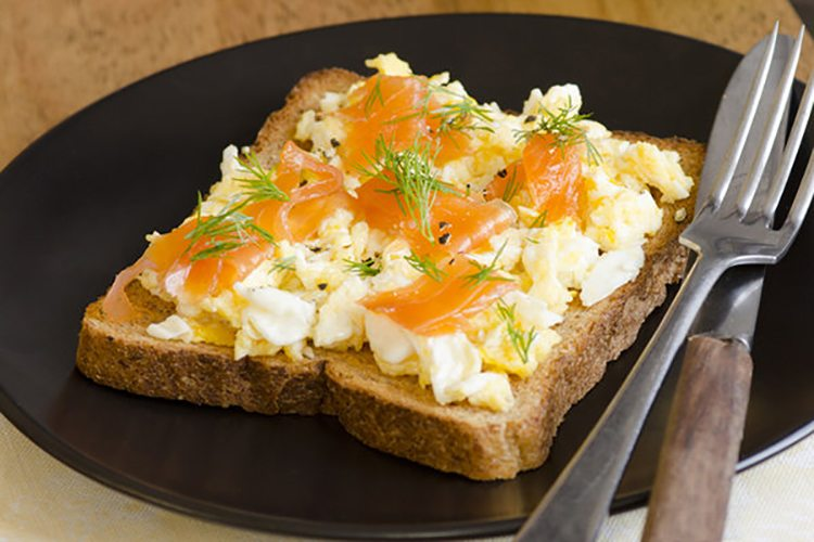 Protein Salmon and Eggs on Toast