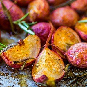 Roasted, Spiced Radishes