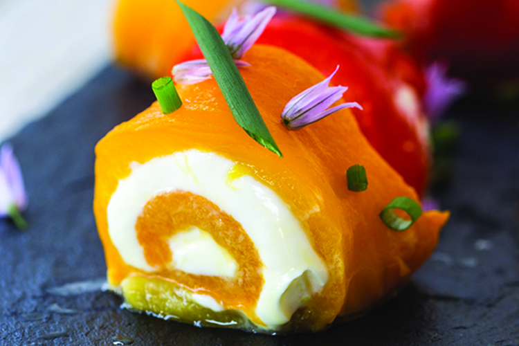 Cheese-Stuffed Roasted Bell Peppers
