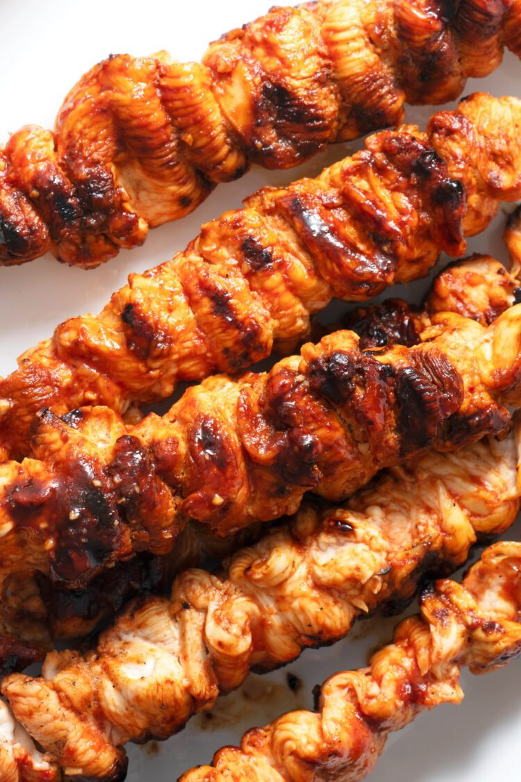 Grill up some chicken skewers instead of plain old hamburgers and hotdogs.