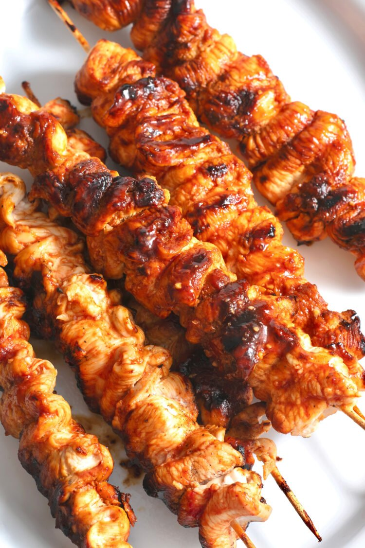 These flavorful chipotle honey chicken skewers will be the star of your cookout!