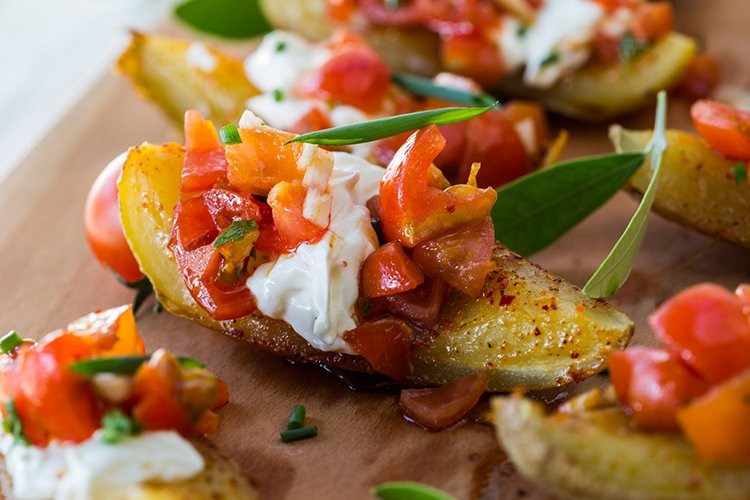Healthy Chipotle Potato Skins