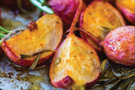 Roasted Spiced Radishes