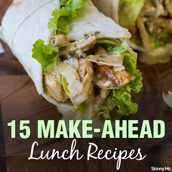 15 make ahead lunch recipes