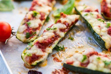 Pizza Zucchini Boats