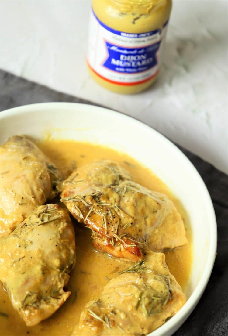 Honey mustard is by far the most important ingredient in this delicious chicken dish!