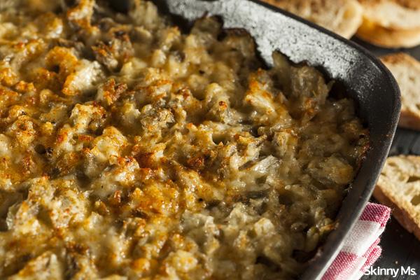 Oven Baked Cheesy Artichoke Dip