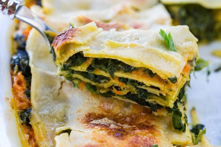 Pumpkin and Spinach Lasagna Recipe