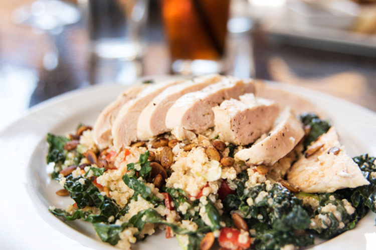 Chicken Breasts with Quinoa & Kale Recipe