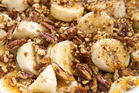 Slow Cooker Banana Pecan French Toast