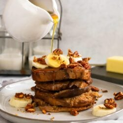 Our slow cooker banana pecan French toast is chock-full of sweet, satisfying flavor.
