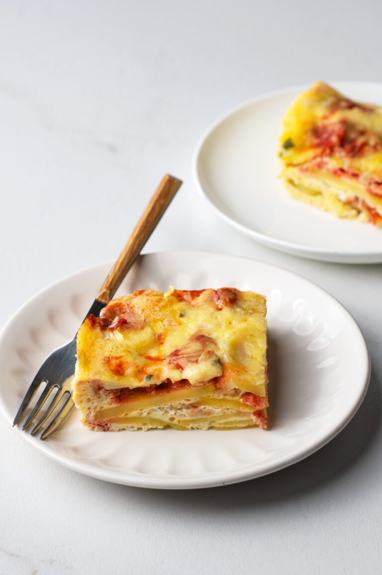 Our breakfast casserole is full of delicious flavor and made with nutritious ingredients.