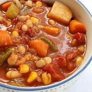Slow Cooker Chunky Bean & Vegetable Soup