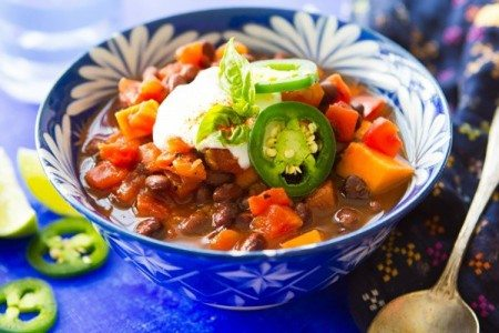 Slow Cooker Sweet Potato & Black Bean Chili