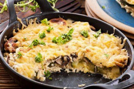 Veggie Cheese Skillet