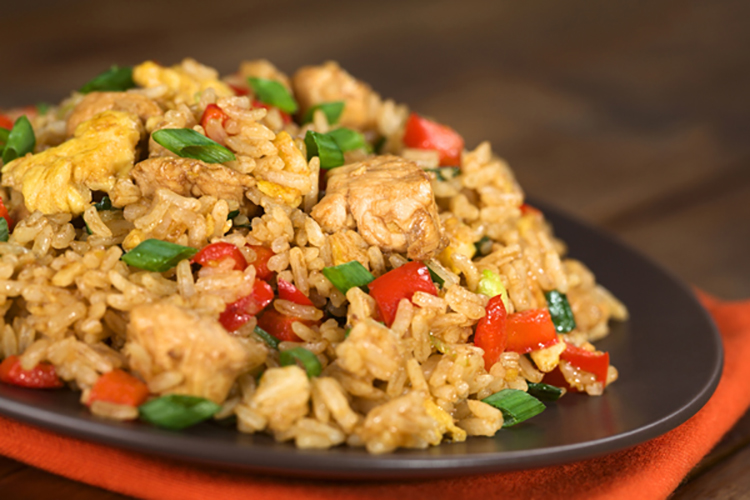how to cook chicken fried rice with egg