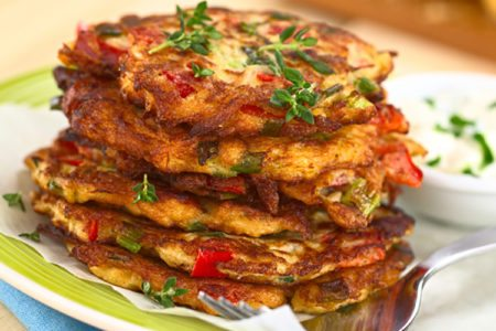Clean Eating Vegetable Fritters