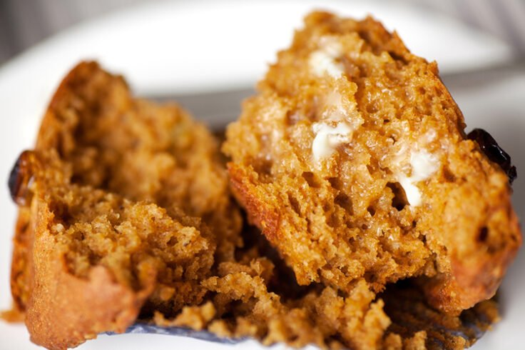 Try these pumpkin raisin muffins for breakfast on the next cool Autumn morning!