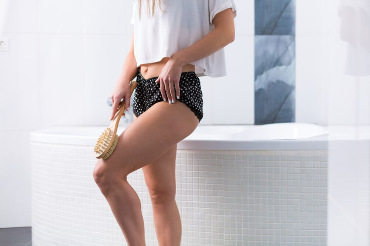 Dry brushing will shed dead skin cells, increase circulation. and work to shrink your pores for healthier skin!
