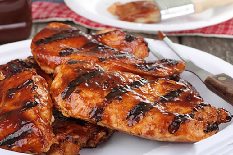 Barbecued Grilled Chicken Breasts