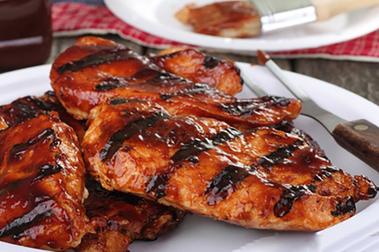 Not doubt Chicken breast with bbq sauce
