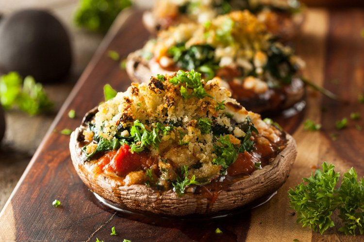 Cheesy Stuffed Portabello Mushrooms