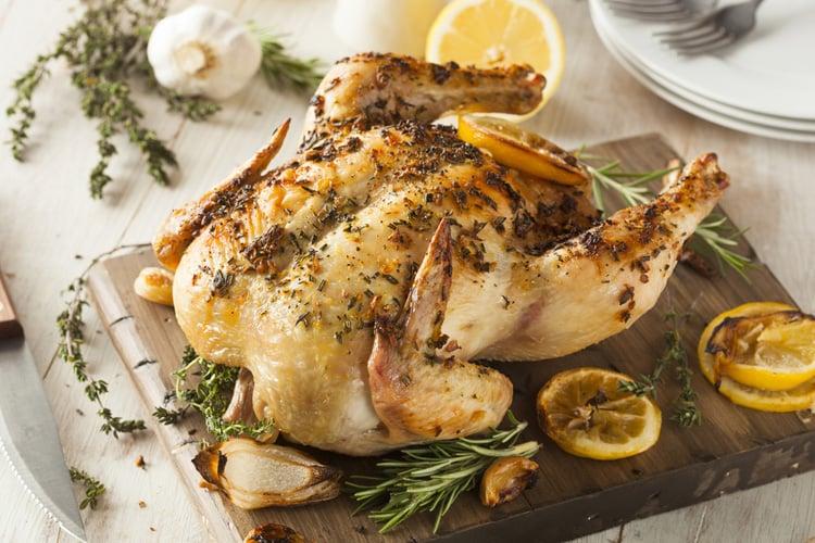 Chicken Roast with Lemon & Rosemary