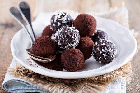 Homemade Date Chocolate Truffles