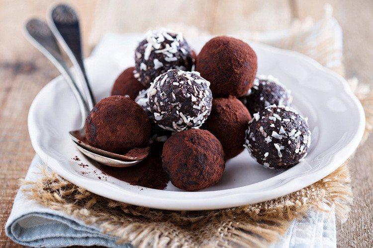 Homemade Date Chocolate Truffles Skinny Ms