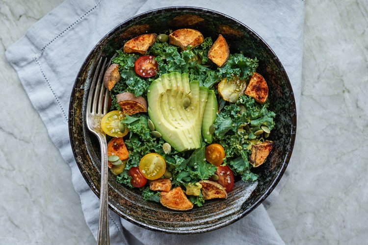 Kale and Roasted Yam Salad