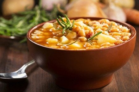Slow Cooker Bean & Potato Soup
