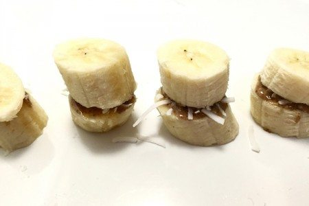 Almond Butter and Banana Sandwiches