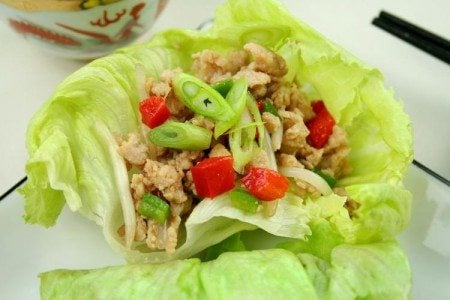 Asian Ground Chicken Cups