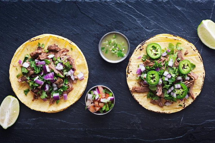 Slow Cooker Everything Beef Tacos