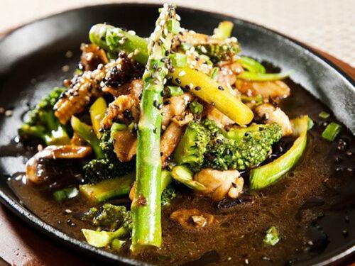 Chicken Broccoli And Asparagus Stir Fry
