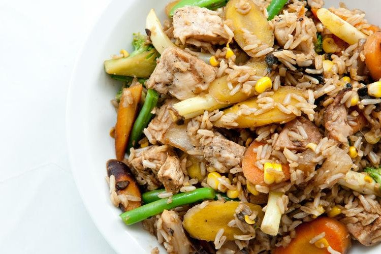 Chicken Stir-Fry with Vegetables and Brown Rice