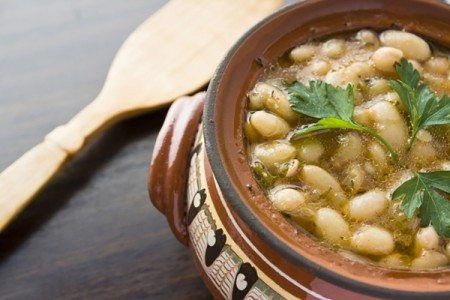 Crockpot Rosemary & Garlic Cannellini Beans